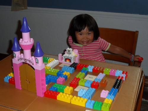 A young adventurer storming the castle